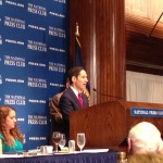 Dr. Tom Frieden speaking at the National Press Club
