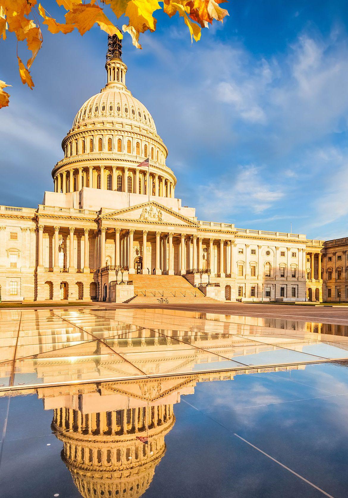 U.S. Capitol in Fall